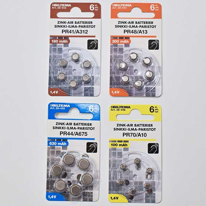 Test our low prices on hearing aid batteries
